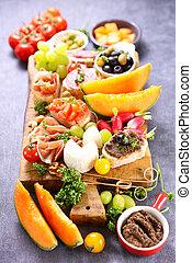 antipasto- buffet food,  health snack