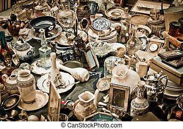 Vintage image of various antiques gathered together