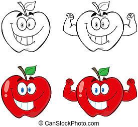 Apple Cartoon Characters-