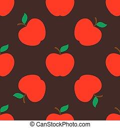 Apple dark seamless pattern background