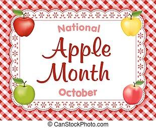 Apple Month, Lace Doily Place Mat