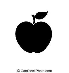Apple shape vector