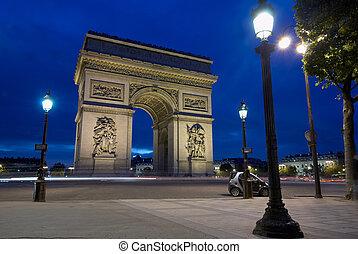 Arc de Triomphe at Place Charles de Gaulle, Paris, France