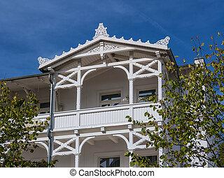 Architecture in Binz on the island Ruegen (Germany).