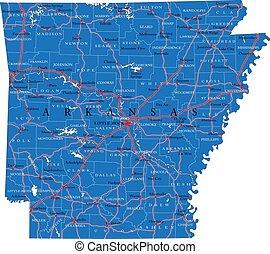 Arkansas state political map