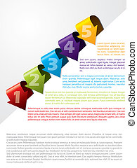 Arrow shaped advertising template with text