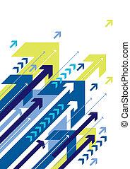 blue arrow design, vector
