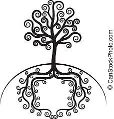 Art beautiful tree