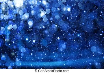 Art Christmas Lights on blue background