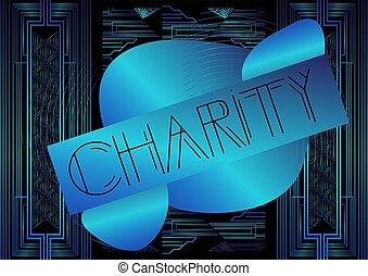 Art Deco Charity text.