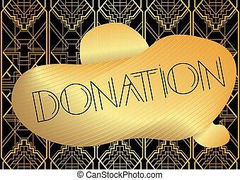 Art Deco Donation text.