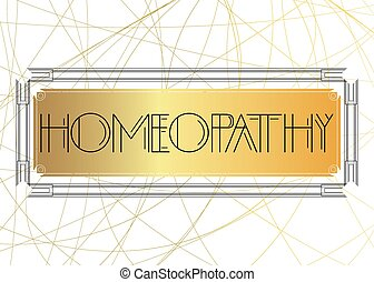 Art Deco Homeopathy text.