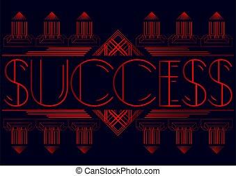 Art Deco Success text.