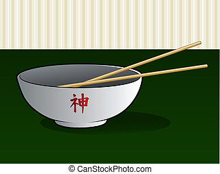 Chinese or Japanese Noodles in a Bowl