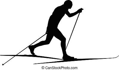 athlet ski racer