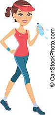 Illustration of woman training
