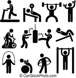 Athletic Gym Gymnasium Exercise