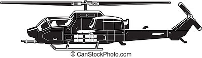 black and white illustration of the helicopter.