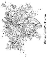 birds adult coloring page