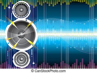 Audio speaker wave background, Vector layered.
