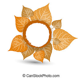 Autumn Background-Autumn Leaves Falling for your own design