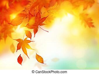 Autumn season falling Leaves - background design.