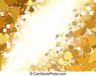 Autumn light background. EPS 8