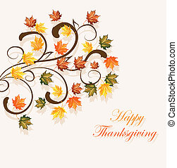 Autumnal leaves background for thanksgiving or seasonal design