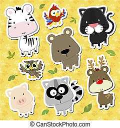 baby animals cartoon vector