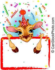 Baby Giraffe Birthday