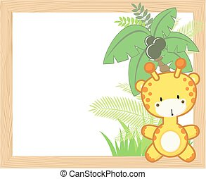 baby giraffe frame
