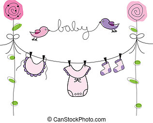 Cute baby girl clothes line