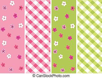 baby girl seamless patterns