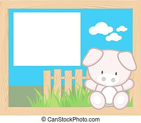 baby pig frame