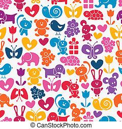 Baby seamless wallpaper. EPS 8 vector illustration.