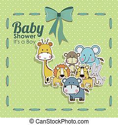 baby shower animals icons