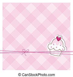 Card with cute cupcake