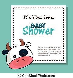 baby shower invitation with stuffed animal