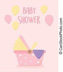 baby shower newborn car seat balloons decoration