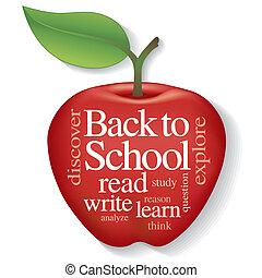 Back to School Apple Word Cloud