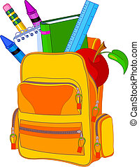 Back to school image concept content school bag and so on%u2026