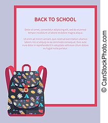 Back to School Banner with Place for Text Backpack