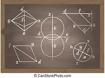 Back to school blackboard vector
