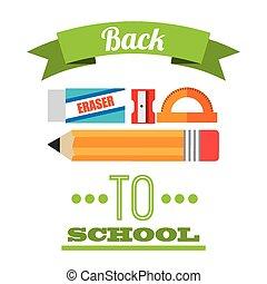 back to school design, vector illustration eps10 graphic