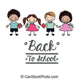 Back to school design, vector illustration