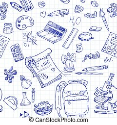 Back to School doodles seamless 2