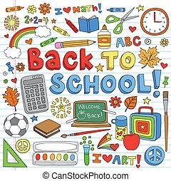 Back to School Doodles Vector Set