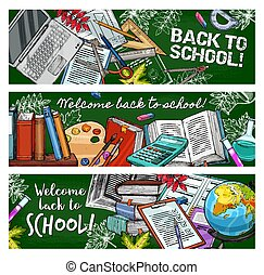 Back to School education books and stationery