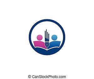Back to school education logo vector