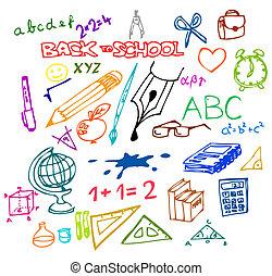 Back to school - illustrations